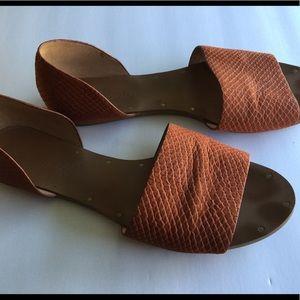 MADEWELL Suede Orange Flats